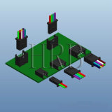 Connector PCB ambiental com 8 Posição Circular