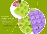 лоток выпечки Sc36 прессформы силикона торта формы 15-Cavity Rose