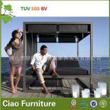 愛家具のためのH屋外の藤か柳細工の本物の人々のLoungerのビーチチェア