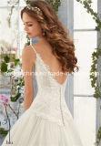 Платье венчания планок спагеттиа сатинировки Tulle шнурка Mori Lee Morilee просто (Dream-100057)