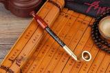 Collectible  Alte Handarbeit  Rotes Jade-Einlegearbeit-Rohr-Pfeife