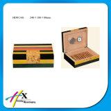 Spanische Zeder-festes Holz-Luftfeuchtigkeitsregler, Zoll stellen Zigarrenschachtel her