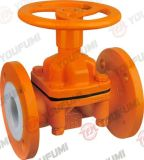 Lavoriere Type PFA Lined Diaphragm Valve per Chemical