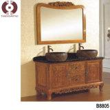 Шкаф ванной комнаты твердой древесины (1014)