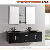 浴室の流しの虚栄心/ミラーの浴室用キャビネット/高く光沢のある浴室の虚栄心(T9001A)