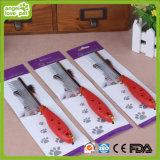 Mascota de plástico de mano de acero agujas pelo peines (HN-PG345)