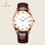 Reloj 72311 del cuarzo del acero inoxidable del cuero de la manera de los hombres