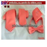Maigre amincir la cravate de mariage d'usager tissée par jacquard en soie d'hommes de plaine de couleur solide de relation étroite (T8009)