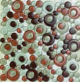 Kleurrijke 300*300mm Round Glass Mosaic met SHAPE Round (T 1824)