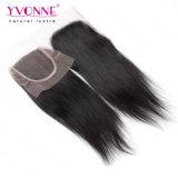 Chiusura diritta naturale popolare della parte superiore del merletto dei capelli umani