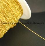 искусствоа ногтя цепи шарика ювелирных изделий шарика металла 1.2mm цепь латунного металлическая (золото/серебр TC-1.2mm)