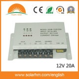 o controlador solar da carga de 12V20A PWM para o uso solar do sistema de energia coneta o inversor solar e a bateria do painel solar