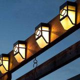Lâmpadas ao ar livre leves pstas solares da luz da lanterna do preto de lâmpada da paisagem da parede do trajeto da jarda do jardim do diodo emissor de luz da luz solar 2 da parede