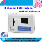 Descansando 3 Channel ECG Machine 12 Lead com PC Software 3.5 Inch Handheld Electrocardiograph EKG Monitor 903BS com ISO Certificate - Maggie do CE