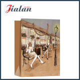 Dessin Streetscape Ivory Paper Fashion Lady's Shopping Gift Paper Bag