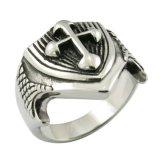 De Nieuwe Model Zilveren DwarsRing van uitstekende kwaliteit van de Manier van de Ring Imitatie