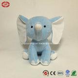 Giocattolo molle ricamato della peluche di bambino dell'elefante enorme dell'azzurro