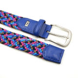 Cotton Braided Lady Belt con Double Rings Buckle