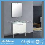 L'unità moderna di vendita calda di vanità della stanza da bagno dell'involucro del vinile con due dissipa (BC139V)