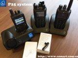 P25/Dmr/Analog 휴대용 라디오, /GPS를 지도로 나타내는 GPS를 가진 GPS 라디오는 군을%s 알린다