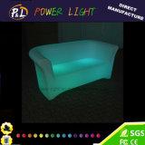 Moderner Plastik leuchtet Sofa-Set der Aufenthaltsraum-Möbel-LED