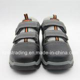 夏の鋼鉄つま先の安全靴