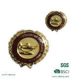Pin del risvolto della corona dell'oro del metallo