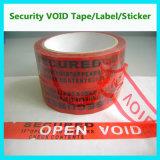 빈 테이프를 포장하는 안전; 안전 꼬리표 또는 물개 또는 레이블