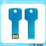 Blaues Metallaluminiumschlüsselform USB-Blitz mit Firmenzeichen (ZYF1729)