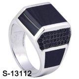 Prata 925 do anel da jóia da parte alta para o homem