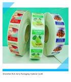 Etiket in de Markering & de Kleefstof van het Etiket