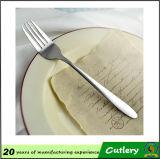 Fourchette enduite d'argent d'acier inoxydable de qualité
