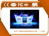 Visualización de LED de aluminio ligera vendedora caliente de la cabina P3.91 para la etapa de interior de la demostración viva