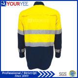 Chemises faites sur commande de travail avec la bande r3fléchissante exhalant en arrière (YWS119)