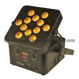 PARIDADE sem fio 12X10W RGBWA 5 in-1 do diodo emissor de luz da bateria