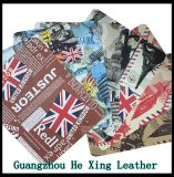 Eco-Friendly PU Leather, Syntheticl Printed Leather for Shoes, Hand Bag