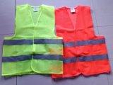 Vestes verdes alaranjadas da segurança da visibilidade elevada de En471 Class2
