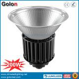 100-277VAC 25 60 90 100W 150W 200W 산업 LED 높은 만 램프를 흐리게 하는 120 도 알루미늄 반사체 1-10V