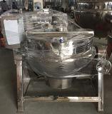 caldera de cocinar vestida del vapor 300L con la chaqueta doble