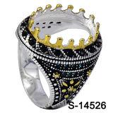 Anello d'argento degli uomini dei poli di Hotsale 925 della fabbrica senza pietra concentrare