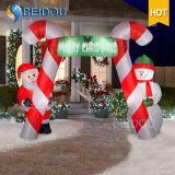クリスマスは膨脹可能な木のクリスマスのアーチ道の装飾の膨脹可能なクリスマスのアーチを飾る