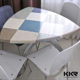 4 Seater künstliche MarmorspitzenLuxuxspeisetische