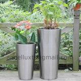 Grande vaso di fiore dell'acciaio inossidabile della decorazione esterna su ordinazione