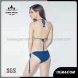 Met de hand gemaakte de Hals van Halter van het Festival van Boho van dames haakt het Zwempak van de Bikini
