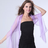 Dame Fashion Polyester Chiffon 30d Silk Scarf in Plain Colors (YKY1002)