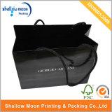 Sacco di acquisto nero lucido personalizzato di marche (QYCI1508)