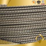 La haute a tendu le fil d'acier dentelé par spirale de PC de plaine de 4mm