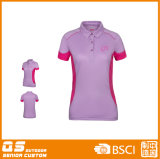 Panel-Polo-Stutzen-T-Shirt der Frauen