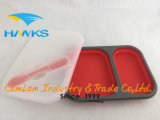 Boîte à lunch en silicone repliable Cuisinière Container