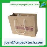 Anunciou o saco de papel vertical de Strupe da vária forma da cor